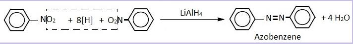 Reduction of nitrobenzene with LiAlH4