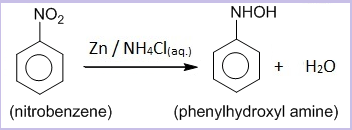 Reduction of nitrobenzene in neutral medium