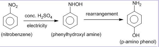 Electrolytic reduction of nitrobenzene